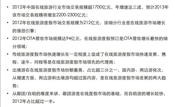 中国在线旅游市场发展现状